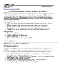 outside sales representative resume sample perfect example writing
