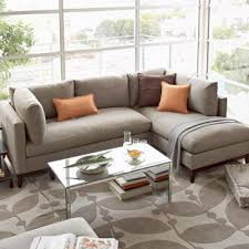 West Elm Sectional Sofa Beige Sectional
