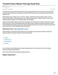 download desain majalah ayuprint co id template desain majalah olahraga sepak bola by