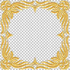 oriental design vector border golden frame with gems oriental design vintage