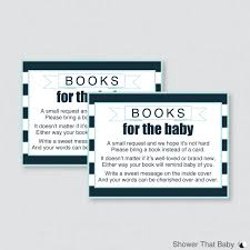Card Inserts For Invitations Baby Shower Bring A Book Instead Of A Card Invitation Inserts