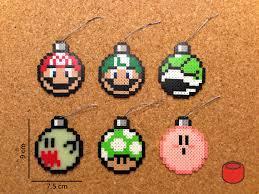 mario ornaments mario luigi shell boo and