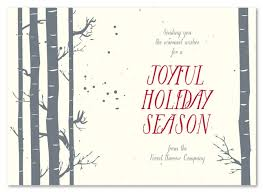 winter cards birch tree by green business print