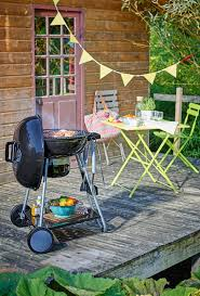 barbecue à charbon sur chariot cuve et et couvercle en acier