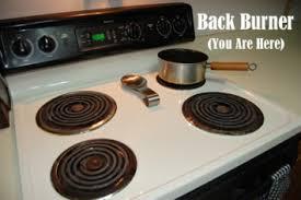 idiom to put something on the back burner help s