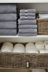 perfect linen closet storage love the bins for everything