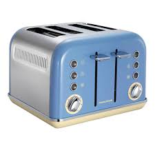 Morphy Richards Toasters And Kettles Morphy Richards 242007 Accents 4 Slice Toaster Corn Flower Blue