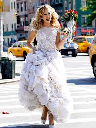 kate hudson models bridal gown for photo shoot in ny adore or