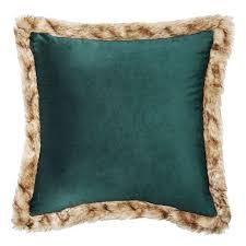 Faux Fur Throw Pillow Timberline Faux Fur Trim Decorative Pillow Throw Pillows U0026 Poufs