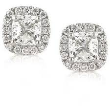 diamond stud earrings melbourne cushion cut diamond earrings polyvore