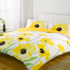 anya 6 piece floral print duvet cover set gray yellow a intended