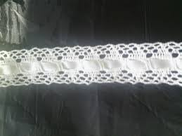 lace ribbon by the yard 1 yard white inserted ribbon crochet lace trim