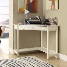 White Bedroom Desk Furniture Small White Corner Desk With Single Drawer For Laptop Computer
