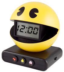 amazing wall clocks pac man alarm clock truffleshuffle regarding the most amazing and
