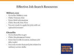 Jobs Resume Upload by Veteran U0027s Job Search Strategies Ppt Download