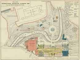 Map Of Glasgow Scotland Map Of The Glasgow 1888 Exhibition Glasgow International
