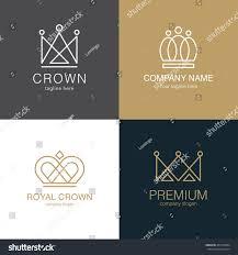 set crown logo templates vector crown stock vector 401540764