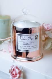cosy home 300g luxury rose gold bell candle scented soy wax vegan