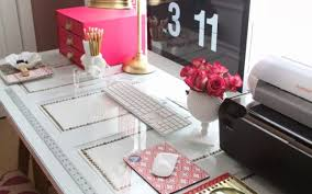 desk creating a comfortable cubicle decor awesome gold desk