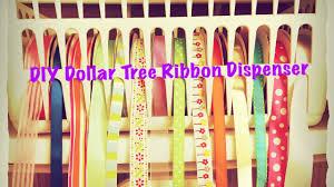 ribbon dispenser diy dollar tree ribbon dispenser for 2 and easy