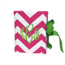 monogrammed photo album gifts for the home home décor preppy monogrammed gifts