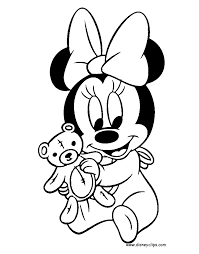 baby minnie mouse coloring pages dessincoloriage