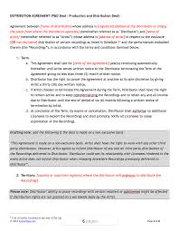 Written Notice Of Termination Of Contract music distribution contract template
