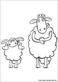 shaun sheep colouring pages funycoloring