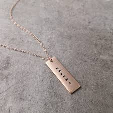 personalized name bar necklace personalized name bar necklace vertical bohindi