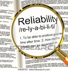 Decorative Definition Stock Illustration Of Reliability Definition Magnifier Shows Trust