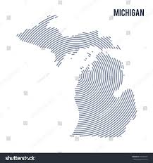 A Map Of Michigan by Vector Abstract Hatched Map State Michigan Stock Vector 679540579