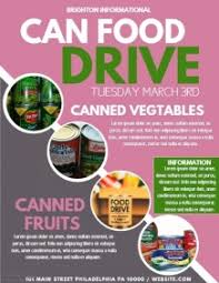 drive brochure templates customizable design templates for food drive postermywall
