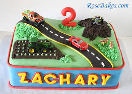 transportation birthday cake car truck tractor u0026 4 wheeler