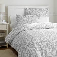 Pb Teen Duvet Damask Duvet Cover Sham Light Gray Pbteen