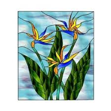 stained glass patterns bird of paradise flowers flowers
