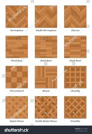 parquet pattern chart most popular parquetry stock vector