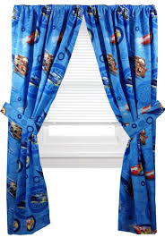Sears Drapery Dept by 4pc Disney Cars Curtain Set Lighting Mcqueen City Limits Drapes