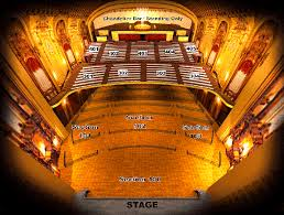 seating chart arvest bank theatre at the midland