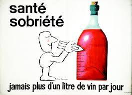 cartoon no alcohol no more than a litre of wine a day recommends a 1950s french