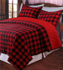 king classic buffalo plaid quilt set with sham quilts and quilt sets
