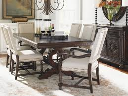 tommy bahama dining table tommy bahama home kilimanjaro expedition rectangular trestle dining