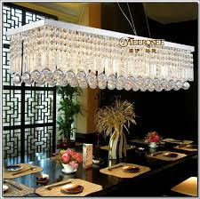 long size rectangle crystal pendant light fitting crystal dining