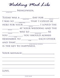 bridal mad libs plan a pretty wedding wedding mad libs