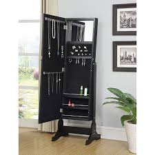 Free Standing Jewelry Armoire With Mirror Amazon Com Coaster Home Furnishings 901827 Casual Jewelry Armoire
