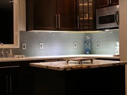 kitchen room interior grey glass subway tile backsplash with