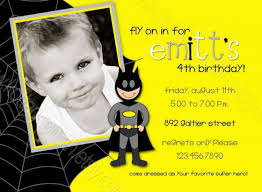 colors simple superman birthday party invitation card