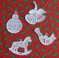embroidering lace ornaments for this exle we used a design from
