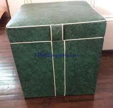 vintage 60 u0027s record album storage ottoman hassock footstool green