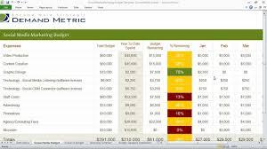 Money Budget Spreadsheet Social Media Marketing Budget Template Youtube