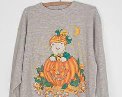 vintage halloween jumper etsy